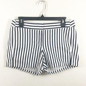 J.CREW Women's Navy/White Striped Chino Shorts